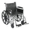 "Sentra EC Heavy Duty Wheelchair, Detachable Full Arms, Swing away Footrests, 20"" Seat"