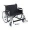 "Sentra EC Heavy Duty Extra Wide Wheelchair, Detachable Full Arms, Swing away Footrests, 26"" Seat"