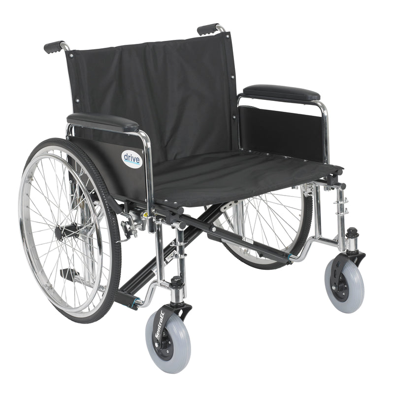 "Sentra EC Heavy Duty Extra Wide Wheelchair, Detachable Full Arms, 26"" Seat"