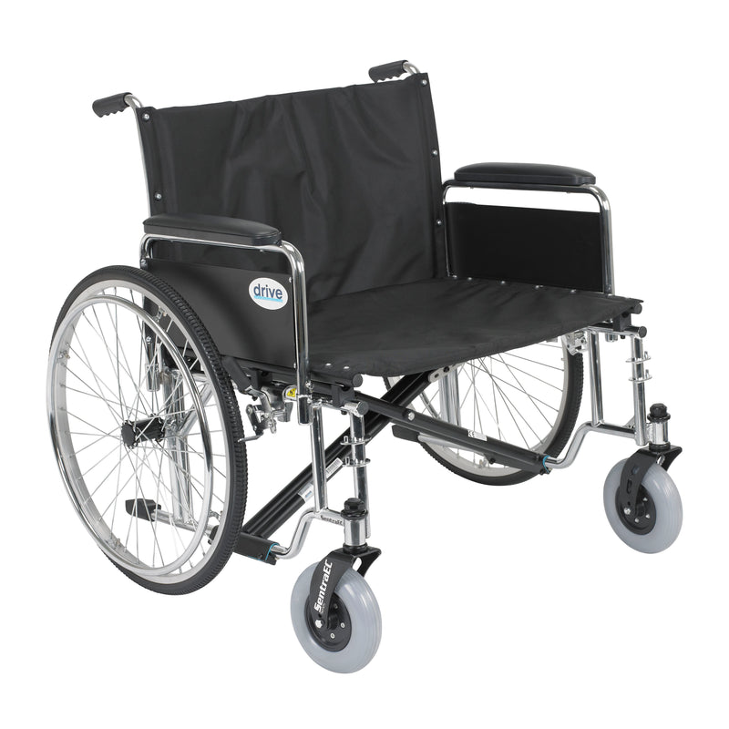 "Sentra EC Heavy Duty Extra Wide Wheelchair, Detachable Full Arms, 30"" Seat"