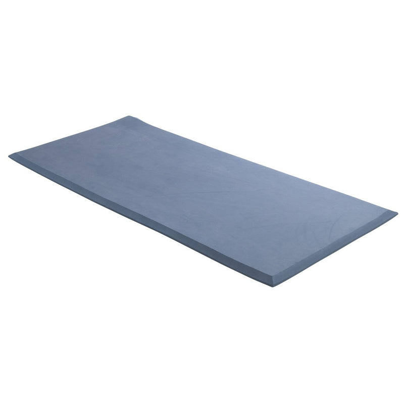 "Mason Medical Safetycare Beveled Edge Solid 1 Piece Fall Mat, 30"", Blue"