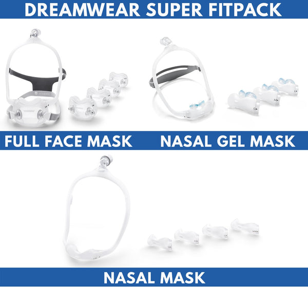 Philips Respironics Dreamwear Super Fitpack Kit, Includes All Cushion Sizes, Headgear, Frames