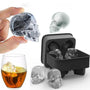 3D Skull Ice-cube Mold Tray