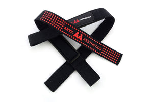 Anvil Aesthetics Heavy Weight Lifting Straps Red/Black