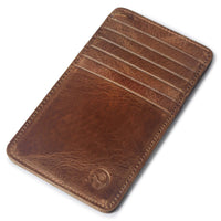 Slim Card Holder Wallet, Genuine Leather