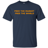 Bitcoin: Free the market, free the world T-Shirt