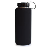34 oz Wide Mouth Water Bottle - Single Wall Stainless Steel, with Neoprene Sleeve