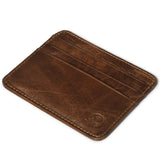 Slim Card Wallet, Genuine Leather