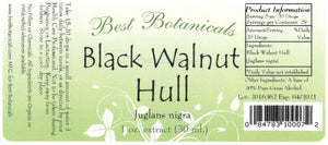 Black Walnut Hull Extract Label