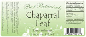 Chaparral Leaf Extract Label