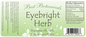 Eyebright Herb Extract Label