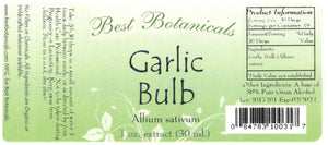 Garlic Bulb Extract Label