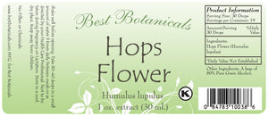 Hops Flower Extract Label
