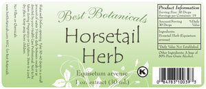 Horsetail Herb Extract Label