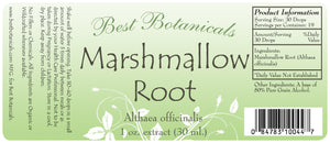 Marshmallow Root Extract Label