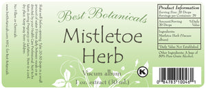 Mistletoe Herb Extract Label