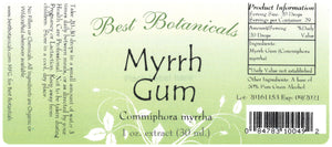Myrrh Gum Extract Label