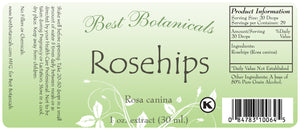Rosehips Extract Label