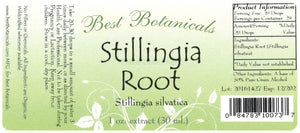 Stillingia Root Extract Label