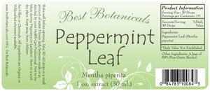 Peppermint Leaf Extract Label