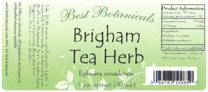 Brigham Tea Herb Extract Label