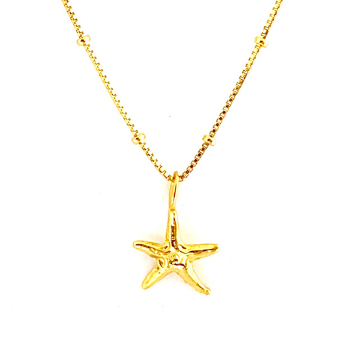 GOLD STARFISH WITH BOX CHAIN