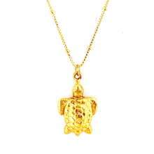 GOLD TURTLE WITH BOX CHAIN