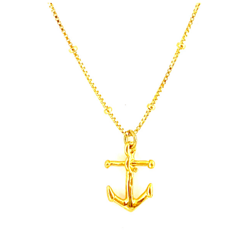 GOLD ANCHOR WITH BOX CHAIN