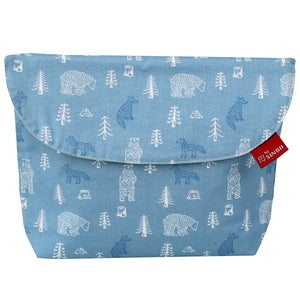 Diaper pouch (Forest Blue- Wide)