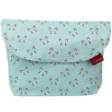 Diaper pouch (Kitty Mint - Wide)