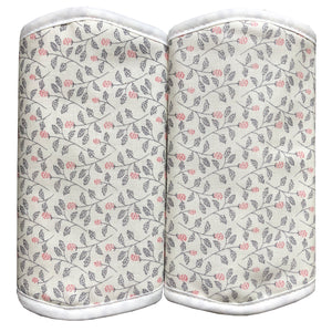 Strap Drool Pads (Pink Flowers)