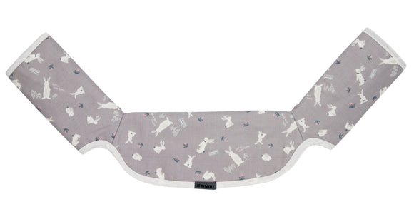 One-piece Drool Pad (Grey Rabbit)