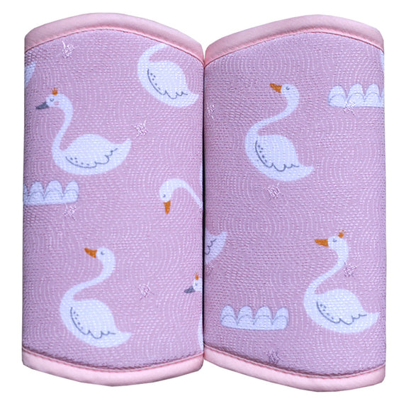 Strap Drool Pads (Pink Swan)