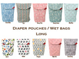 Diaper pouch (Kitty Pink - Wide)