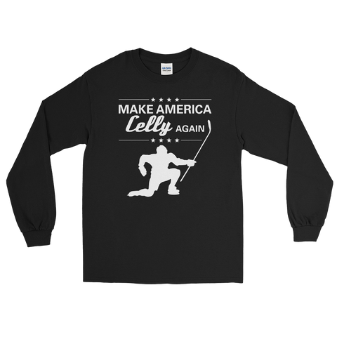 Make America Celly Again Hockey Long Sleeve T-Shirt
