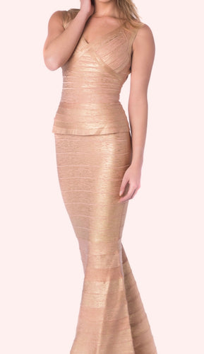 BANDAGE GOLD GOWN