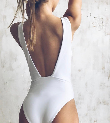 WHITE ONE PIECE SWIMSUIT