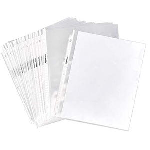 "Clear Sheet Protector for 3 Ring Binder, 8.5"" x 11"" - 100-Pack"