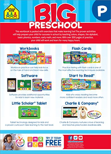 Preschool Workbook - Ages 4 and Up [Colors, Shapes, Numbers 1-10, Alphabet, Pre-Writing, Pre-Reading, Phonics, and More]