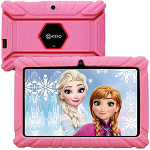 Contixo 7 Inch Kids Learning Android Tablet Parental Control 16GB for Home School Education - Google Certified Pre-Loaded Children Educational Apps - Child Proof Case - Great Gift for Toddlers (Pink)