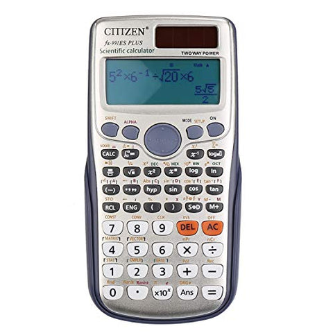 DricRoda Scientific Calculator, Function Calculator Engineering Calculator High School Calculator with Solar Power & Large LCD Display for College, University, Office, Home and Business (Sliver)