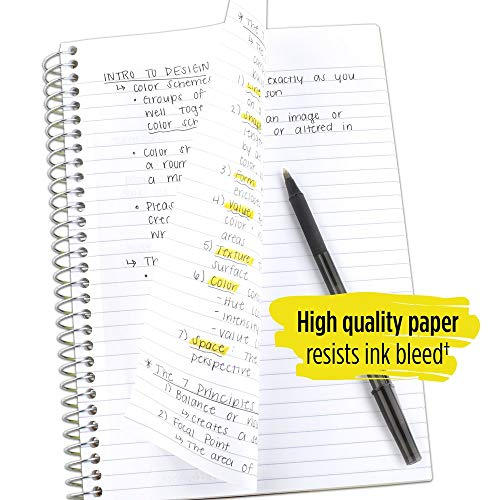 "Five Star Spiral Notebook, 5 Subject, College Ruled Paper, 180 Sheets, Small, 9-1/2"" x 6"", Color Selected For You, 1 Count (06184)"