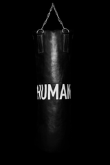 HUMAN BOXING HEAVY BAG AND GLOVES
