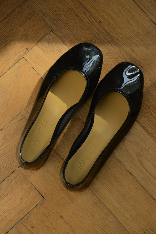 Margot Flats | Patent Black