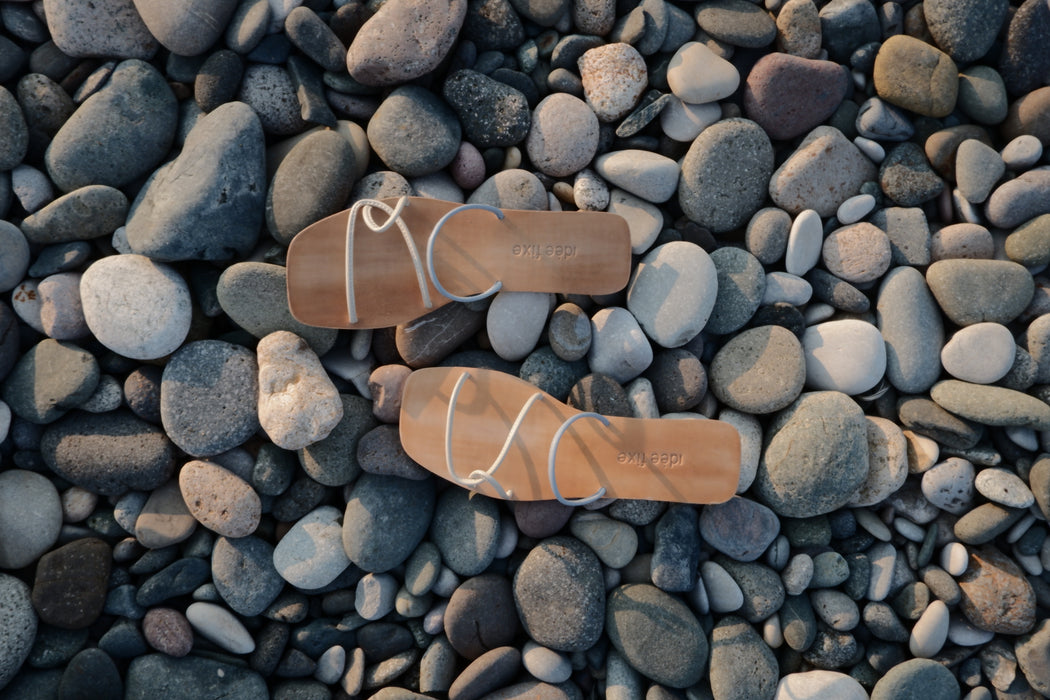 Morocco Sandals | Faded Sky Blue & Cream