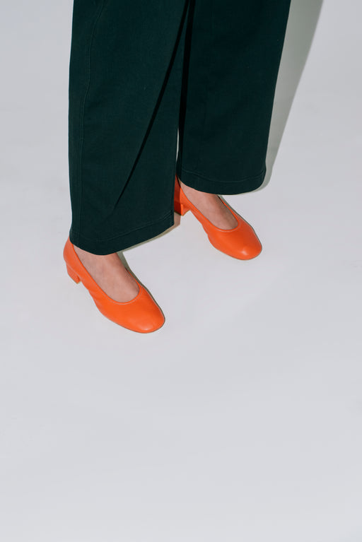 Margot Pumps | Red orange