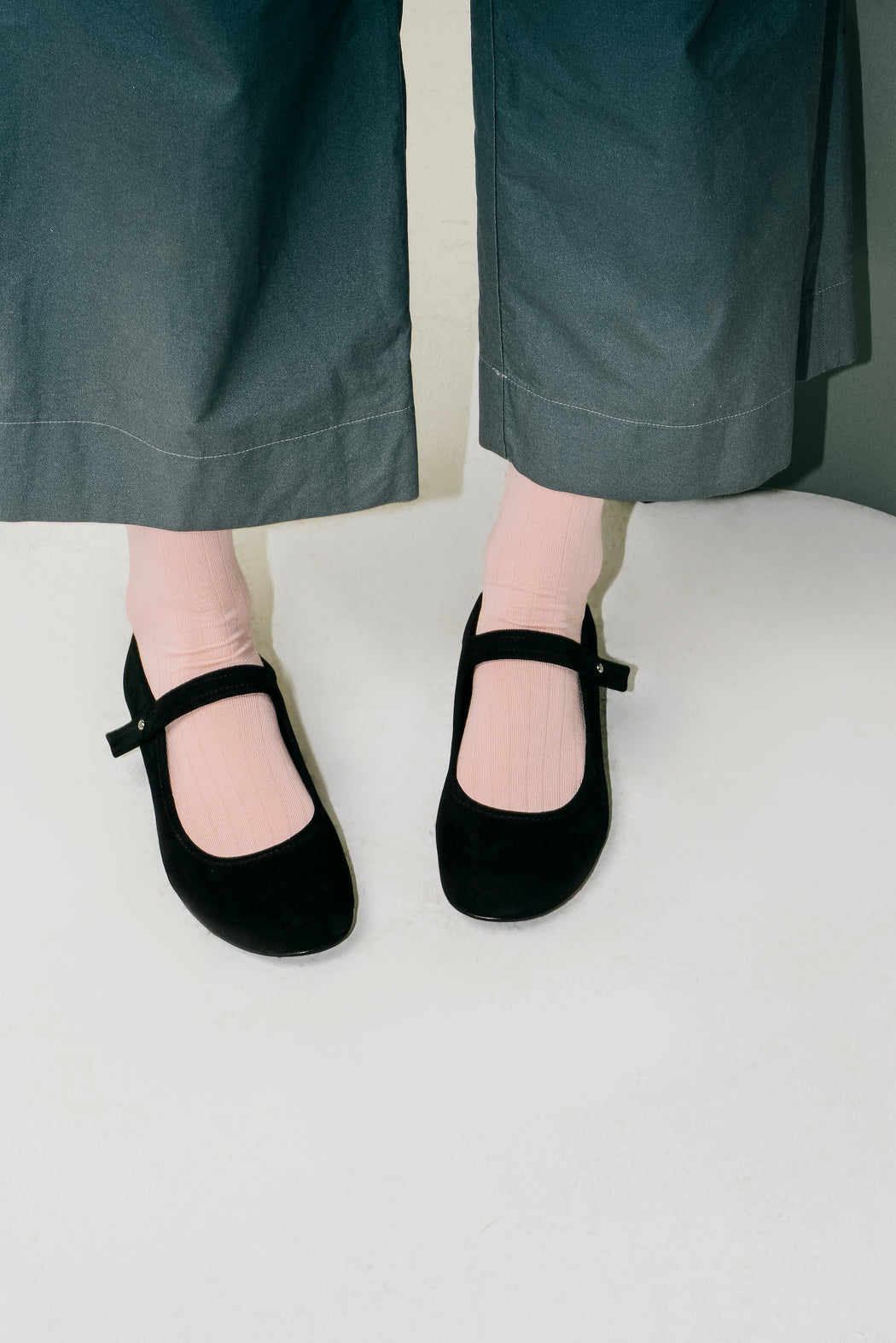 Mary Jane Flats | Black Suede