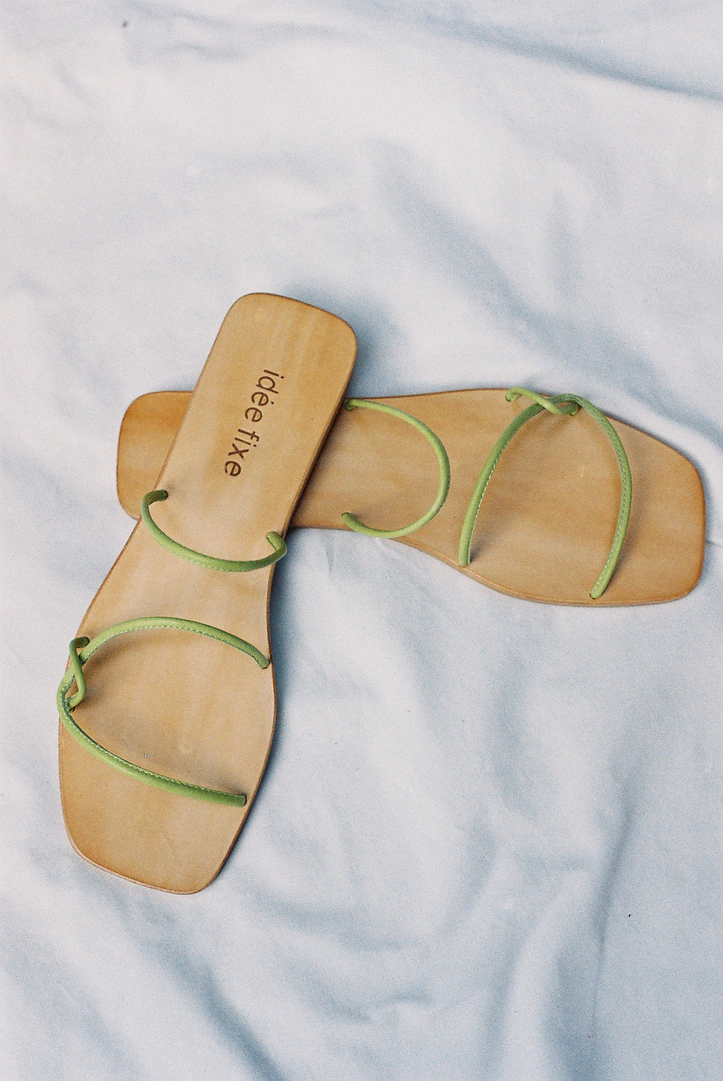 Morocco Sandals | Lime Green