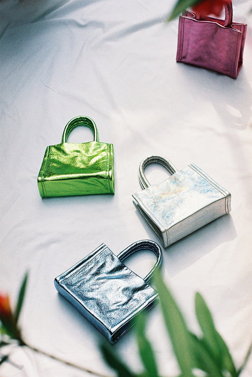 Cecile Bag | Metallic Envy Green