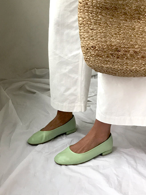 Margot Ballet Flats | Soft mint
